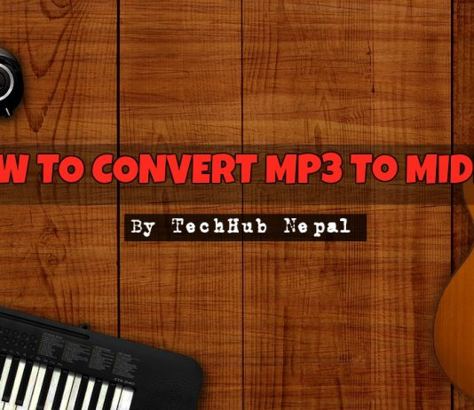 4 steps to convert mp3 to midi